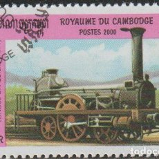 Sellos: CAMBOYA 2000 SCOTT 1970 SELLO * TREN LOCOMOTORA LONGUE CHAUDIÈRE (1891) MICHEL 2055 YVERT 1782H. Lote 214929166