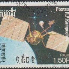 Sellos: CAMBOYA 1988 SCOTT 872 SELLO * SATELITES EXPLORACION ESPACIAL MICHEL 950 YVERT 803 KAMPUCHEA CAMBODI. Lote 220287441