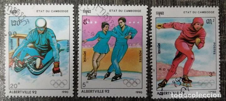 CAMBOYA. ALBERTVILLE 92. (Sellos - Extranjero - Asia - Camboya)