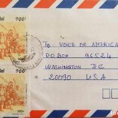 Sellos: O) 1992 CAMBOYA, DESCUBRIMIENTO DE AMÉRICA, COLON, ATERRIZAJE DE COLÓN, CIRCULAR A EE. UU.. Lote 255307885