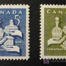 Sellos: CANADA 1965 NAVIDAD 2 SELLOS. Lote 7564636
