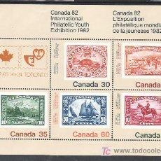Sellos: CANADA HB 3 SIN CHARNELA, FAUNA, BARCO, CANADA 82 EXPOSICION FILATELICA JUVENIL EN TORONTO, . Lote 9047657