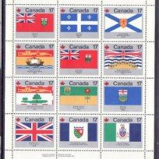 Sellos: CANADA HB 2 SIN CHARNELA, BANDERA, BARCO, CELEBRACION DE LA FIESTA DE CANADA, ESCUDOS DE PROVINCIAS. Lote 10522475