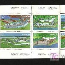 Sellos: CANADA 838 CARNET SIN CHARNELA, FUERTES DE CANADA, . Lote 10815964