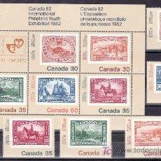 Sellos: CANADA 787/8, 787A, 788A/B, HB 3 SIN CHARNELA, CANADA 82 EXP FIL MUNDIAL DE LA JUVENTUD EN TORONTO. Lote 12055198