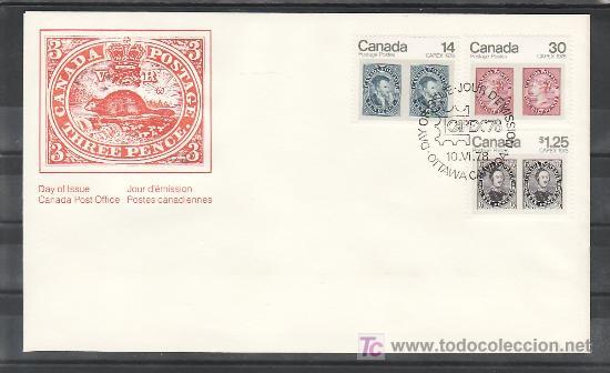 CANADA 665/7 SOBRE PRIMER DIA, CAPEX 78 EXPOSICION FILATELICA INTERNACIONAL EN TORONTO, (Sellos - Extranjero - América - Canadá)