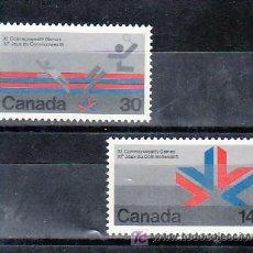 Sellos: CANADA 659/60 SIN CHARNELA, DEPORTE, XI JUEGOS DE LA COMMONWEALTH EN EDMONTON, . Lote 9079893