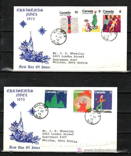 CANADA 584/9 SOBRE PRIMER DIA, NAVIDAD, DIBUJOS INFANTILES, (Sellos - Extranjero - América - Canadá)