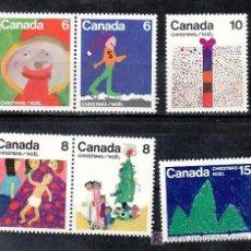 Sellos: CANADA 584/9 SIN CHARNELA, NAVIDAD, DIBUJOS INFANTILES, . Lote 9082776