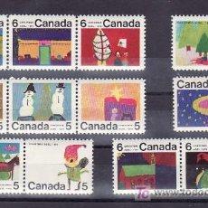 Sellos: CANADA 439/50 SIN CHARNELA, INFANCIA, NAVIDAD, DIBUJO DE NIÑOS, . Lote 10537032