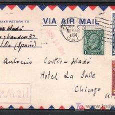 Sellos: CANADA 161, 170, 172, SOBRE TORONTO A CHICAGO (EE.UU.), CIRCULADA, BARCO, PINTURA, . Lote 10815972