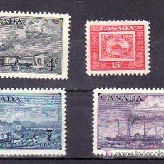 Sellos: CANADA 246/9 SIN CHARNELA, AVION, BARCO, FF.CC., FAUNA, CENTENARIO DEL SELLO CANADIENSE, . Lote 9104075