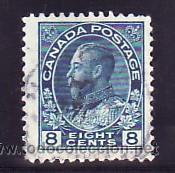 CANADA 115 USADA, GEORGE V, (Sellos - Extranjero - América - Canadá)