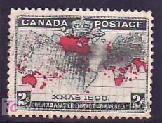 CANADA 73 USADA, CONMEMORACION DE LA TARIFA POSTAL UNIFICADA PARA TODO EL IMPERIO BRITANICO, (Sellos - Extranjero - América - Canadá)