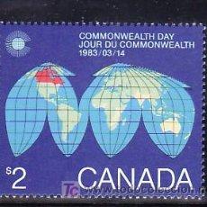 Sellos: CANADA 831 SIN CHARNELA, GEOGRAFIA, DIA DE LA COMMONWEALTH, . Lote 9050438