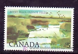 CANADA 827 SIN CHARNELA, NATURALEZA, AVES, PARQUE NACIONAL, (Sellos - Extranjero - América - Canadá)