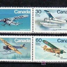 Sellos: CANADA 814/7 SIN CHARNELA, AVION, AVIACION CANADIENSE, . Lote 9050964