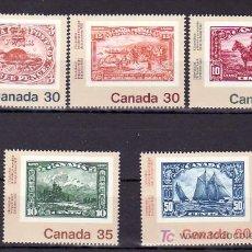 Sellos: CANADA 787/8, 787A, 788A/B SIN CHARNELA, FAUNA, BARCO, CANADA 82 EXP FIL MUNDIAL JUVENTUD TORONTO. Lote 9061847