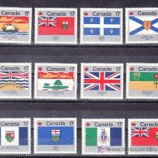 Sellos: CANADA 707A/M SIN CHARNELA, BANDERAS DE LAS PROVINCIAS . Lote 10506859