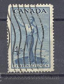 CANADA- 1947-USADO CON CHARNELA (Sellos - Extranjero - América - Canadá)