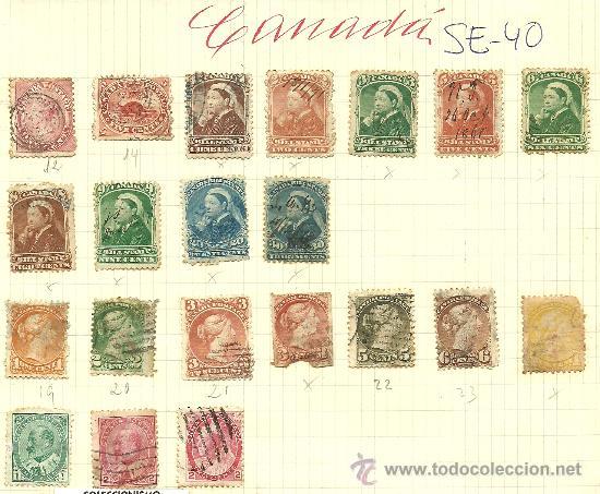 (SE-40)LOTE DE SELLOS DE CANADA (Sellos - Extranjero - América - Canadá)