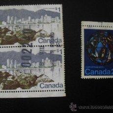 Sellos: 3 SELLOS DE CANADA. Lote 27111109