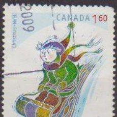 Sellos: CANADA 2009 SELLO º NÖEL NAVIDAD CHRISTMAS DIBUJO NIÑO EN TRINEO EN LA NIEVE CANADA STAMPS TIMBRE BR. Lote 27635631