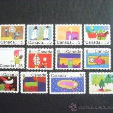 Sellos: CANADA Nº YVERT 439/50*** AÑO 1970, NAVIDAD. DIBUJOS INFANTILES . Lote 30190957