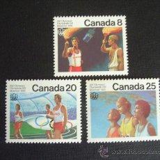 Sellos: CANADA Nº YVERT 604/6*** AÑO 1976. JUEGOS OLIMPICOS DE MONTREAL. Lote 30711601