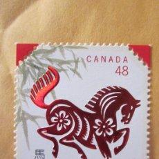 Sellos: SERIE SELLOS CANADA AÑO DEL CABALLO.FACIAL 0,48.AÑO 2002.NUEVO. Lote 33203881