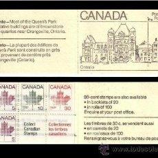 Sellos: CANADA- CARNET CON BLOQUE DE SELLOS- COLECCION DE CIUDADES ONTARIO. Lote 35414553