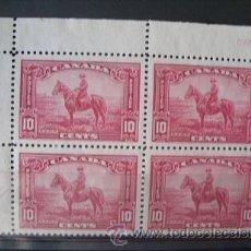 Sellos: CANADA,1935,SCOTT 223,YVERT 185,BLOQUE DE 4,POLICIA MONTADA,NUEVO SIN GOMA. Lote 38371358