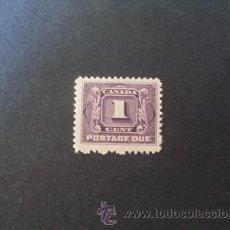 Sellos: CANADA,1906-1928,SCOTT J1,YVERT 1,SELLO DE TASA,NUEVO SIN GOMA. Lote 38405599
