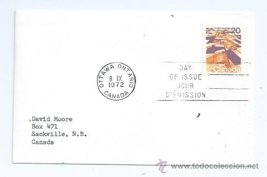 SOBRE CARTA DE CANADA, S.P.D. 1972-09-08, DEFINITIVO (Sellos - Extranjero - América - Canadá)