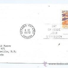 Sellos: SOBRE CARTA DE CANADA, S.P.D. 1972-09-08, DEFINITIVO. Lote 39225619