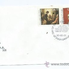 Sellos: ACADEMY OF ARTS, 1980-03-05, MICHEL CA 760-761, DE CANADA. S.P.D.. Lote 39225663