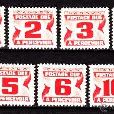 Sellos: CANADÁ TASA 21/27** - AÑO 1967 - CIFRAS. Lote 39304464