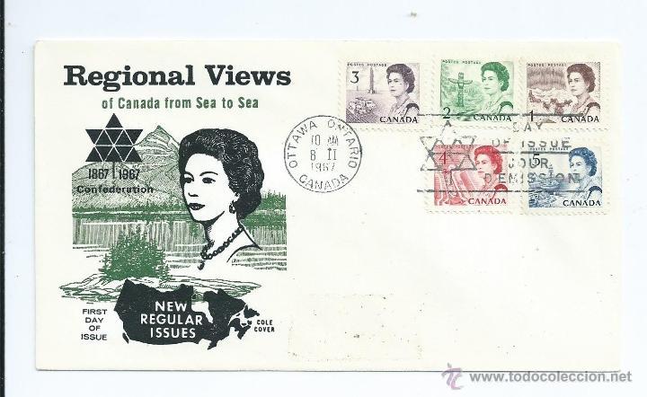 ELIZABETH II, S.P.D. DE CANADA, PRECIOSO. AÑO 1967 (Sellos - Extranjero - América - Canadá)