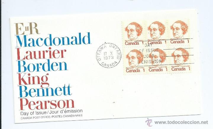 SIR JOHN A. MACDONALD, 1973, DE CANADA. S.P.D. (Sellos - Extranjero - América - Canadá)