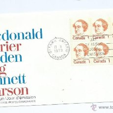 Sellos: SIR JOHN A. MACDONALD, 1973, DE CANADA. S.P.D.. Lote 39687623