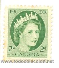 CANADA-268. SELLO USADO CANADA. YVERT Nº 268. BÁSICA. REINA (Sellos - Extranjero - América - Canadá)