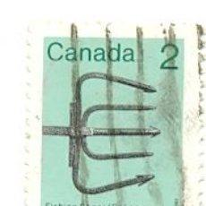 Sellos: 2-CANADA819. SELLO USADO CANADA. YVERT Nº 819. FISHING SPEAR. Lote 40472413