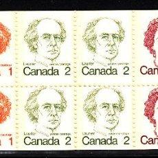 Sellos: CANADA CARNET 610** - AÑO 1976 - PRIMEROS MINISTROS CANADIENSES - REINA ISABEL II. Lote 41377076