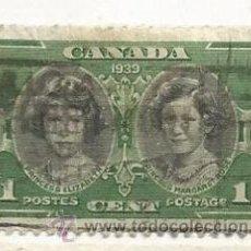 Sellos: CANADÁ 1939. CORONACIÓN REY JORGE, PRINCESAS ISABEL Y MARGARITA. Lote 41410625