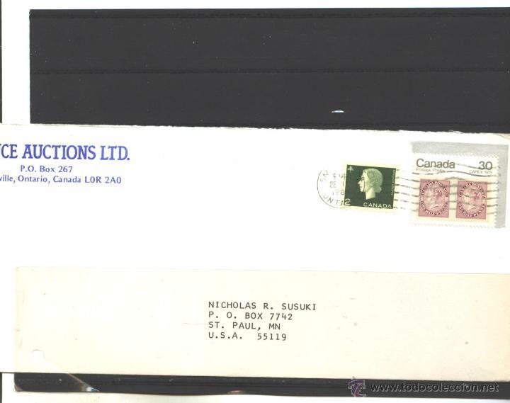 CANADA 1985 - SOBRE CIRCULADO Y ABIERTO SMITHVILLE A USA (Sellos - Extranjero - América - Canadá)