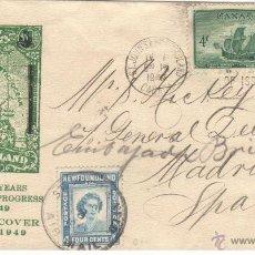 Sellos: SOBRE PRIMER DIA CANADA 1949 VER DETALLE 92 AÑOS DE FILATELIA. Lote 43571186