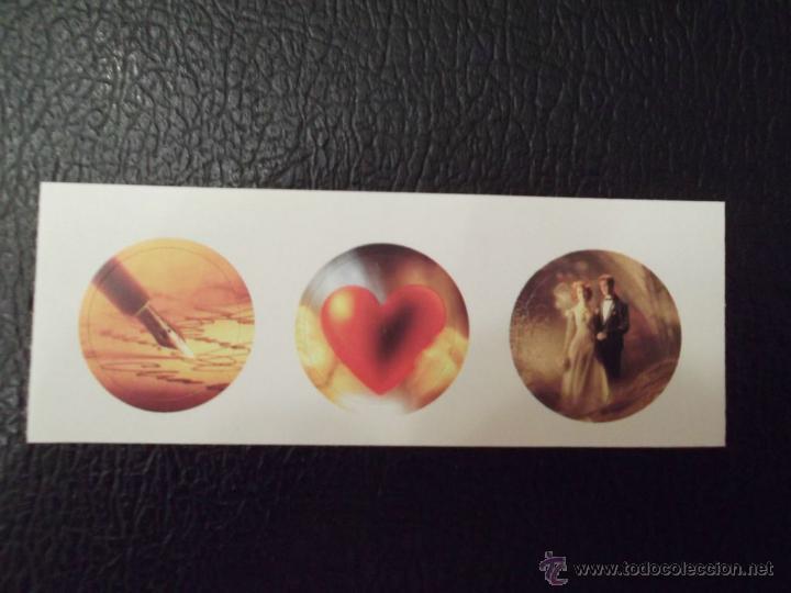 Sellos: Canadá. 1430/31 Sellos deseos + 1 Tira de 3: Amor, matrimonio y correspondencia para ser insertados - Foto 2 - 45325970