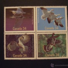Sellos: CANADA Nº YVERT 955/8*** AÑO 1986. AVES DE CANADA. Lote 46243019