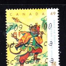 Sellos: CANADA 2048 - AÑO 2004 - AÑO LUNAR CHINO DEL MONO. Lote 49118728
