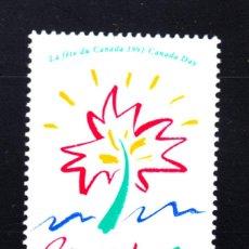 Sellos: CANADA 1190** - AÑO 1991 - FIESTA DEL CANADA. Lote 50436512
